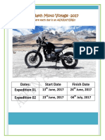 Ladakh Moto Voyage 2017 by Aspen Adventures !!