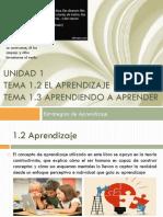 Unidad 1 Tema 2 Aprendizaje y T 3 Aprendiendo Aprender