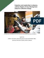 Women's Participation and Leadership in Lebanon, Jordan and Kurdistan Region of Iraq
