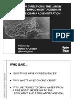 Labor Agenda Details Obama Administration 2009
