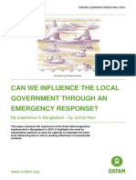 Can we Influence the Local Government through an Emergency Response?