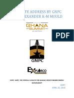 GNPC Excec Speech