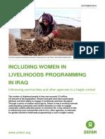 Including Women in Livelihoods Programming in Iraq