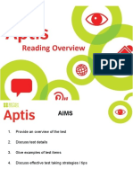 Aptis Reading Overview