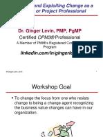 Change Seminar Ginger Levin