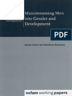 Mainstreaming Men into Gender and Development