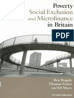 Poverty Social Exclusion and Microfinance in Britain