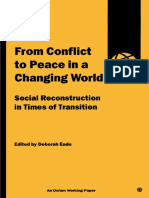 From Conflict to Peace in a Changing World