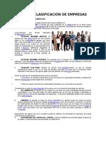 Tipos y Clasificación de Empresas
