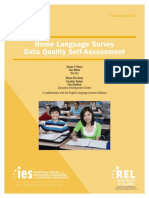 Home Language Survey Data Quality Self-Assessment