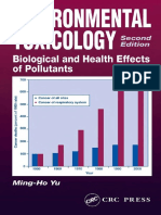 Environmental Toxicology-- Biological and Health Effects of Pollutants, Second Edition