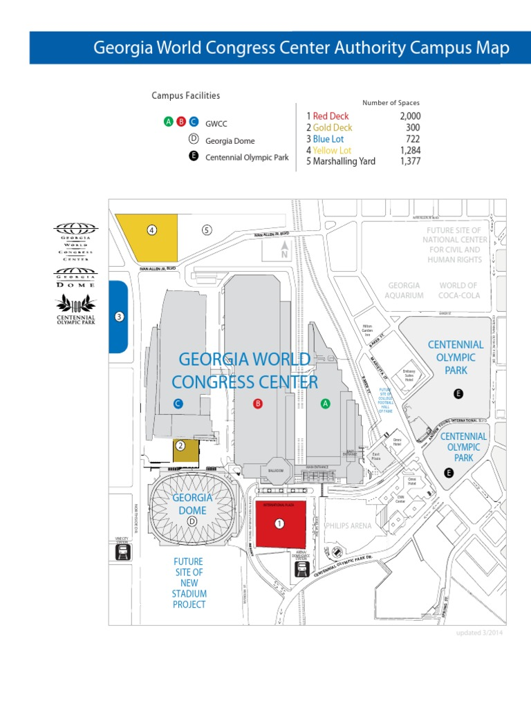 gwcc map | Sports | Leisure Georgia World Congress Center Map on us house of representatives district map, atlanta map, fox theatre map, marietta map, united states map,