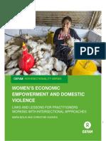 Women's Economic Empowerment and Domestic Violence