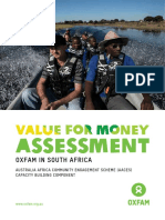 Value for Money Assessment Oxfam in South Africa