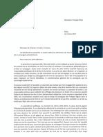 La lettre de démission de Patrick Stefanini à François Fillon
