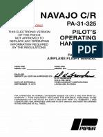 PA·31 ·325 Navajo CR Pilot's Operating