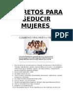 2.-Roberto Amor - Secretos Para Seducir Mujeres - Libro PDF