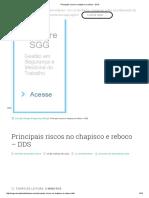 Principais Riscos No Chapisco e Reboco - DDS