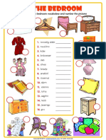 In the Bedroom Unscramble Esl Vocabulary Worksheet