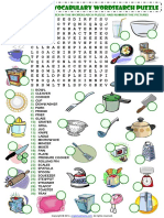 In the Kitchen Vocabulary Esl Wordsearch Puzzle Worksheet