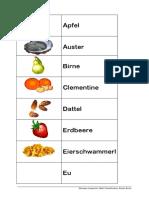 Anlauttabelle Obst Gemüse Alphabetisierung Deutsch