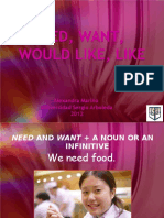 12 Would Like, Want, Need