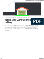 Nokia 5110 LCD Displays on the ATtiny