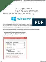 Activer La Confirmation Lors de La Suppression de Fichiers