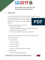 Plan de Trabajo Del Año Fiscal - 2017 - II MDT
