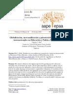 Ball, S. (2014) Globalización, Mercantilización y Privatización en Educacion