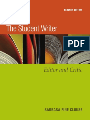 The Student Writer 7th edition 2006 pdf | Verb | Essays