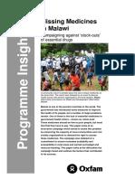 Missing Medicines in Malawi