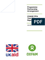 Oxfam's DFID CHASE PPA Year Three Annual Review