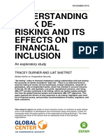 Understanding Bank De-Risking and its Effects on Financial Inclusion