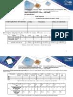 Formato de Tablas Del Componente Práctico Del Curso de Física General