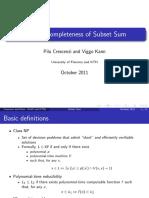subsetSumNPCompleteness(1)