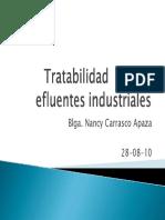 Tratabilidad en los efluentes industriales