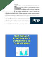 Climogramas. Elaboracion y Ejemplos