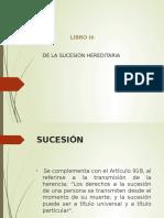 Presentación Libro III de La Suecesion Hereditaria
