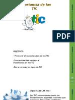 Taller Importancia de Las TIC en Formato PPT