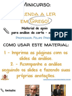 Material de Apoio Para Introdução Aula 3 Minicurso Aprenda a Ler Em Grego