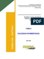 Especificaciones Calzadas Pavimentadas