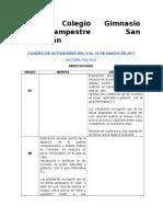 Cuadro de Actividades 3 POLÍTICA.
