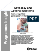 Advocacy and National Elections