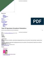 Tema 58 Oposiciones Secundaria Matemáticas