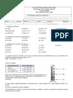 Trabalho de Química 9 a b 1bim 2013