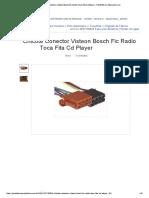 Chicote Conector Visteon Bosch Fic Radio Toca Fita Cd Player