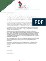 Brittany Olsen, Cover Letter + Resume