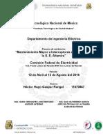 Mantenimiento Mayor a Interruptores de Potencia en S.E. Altamira
