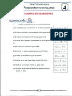 15 Planteo de Ecuaciones